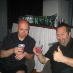 Achim & Axxl enjoying some beverages