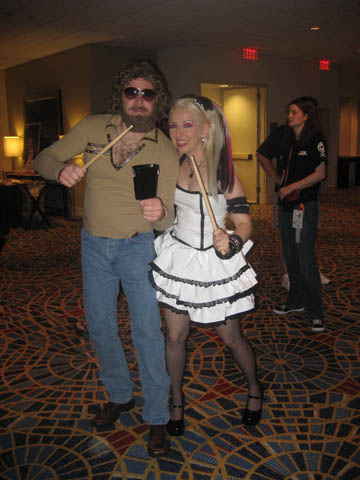 "Jenn with the ""More Cowbell"" guy.  My favourite costume of the Con!"